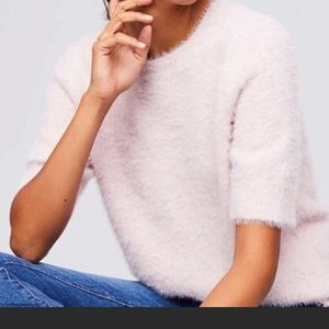 Loft fuzzy pink sweater